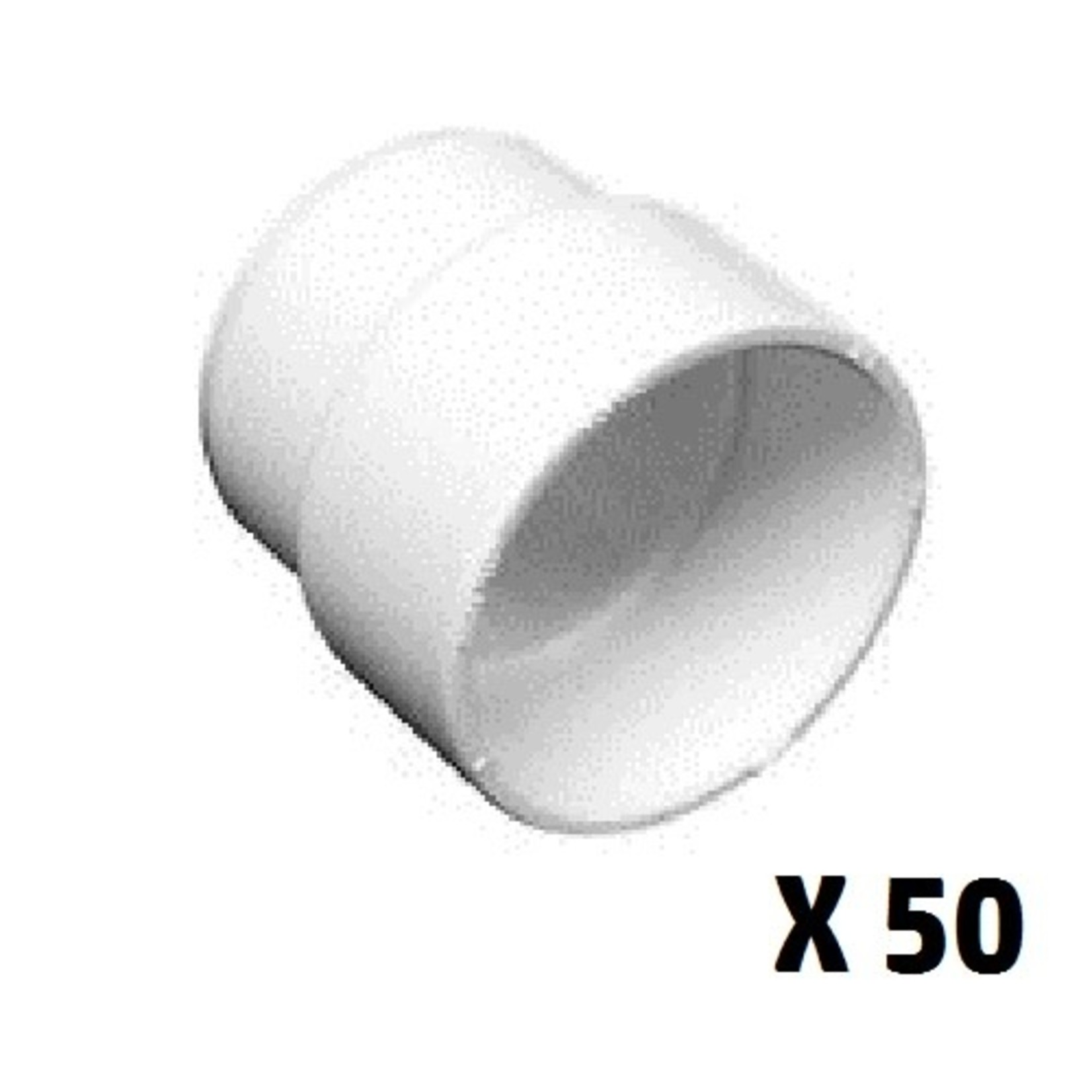 Canplas Central Vacuum Inlet Valve Extension for Thick Walls (Box of 50)