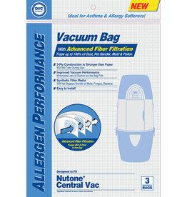 Vacumaid DVC Nutone Central Vacuum Cloth Bag for 391 & Vacumaid - (3pk)