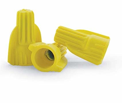 3M CVS Yellow Wire Twist Nuts (10-22AWG) - Pkg of 50