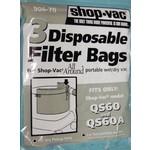 Shop Vac Shop Vac QS60 & QS60A All Around Wet/Dry Paper Bags (3pk)