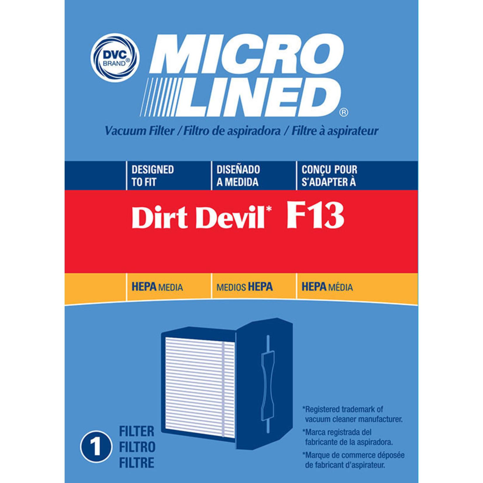 """DVC Dirt Devil Style """"F13"""" HEPA Filter"""