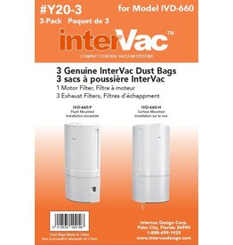Intervac Intervac CondoVac Paper Bags - Y20-3- 3/pkg