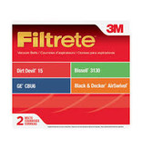 3M Filtrete Dirt Devil & Royal Style 15 Belt - 2pk