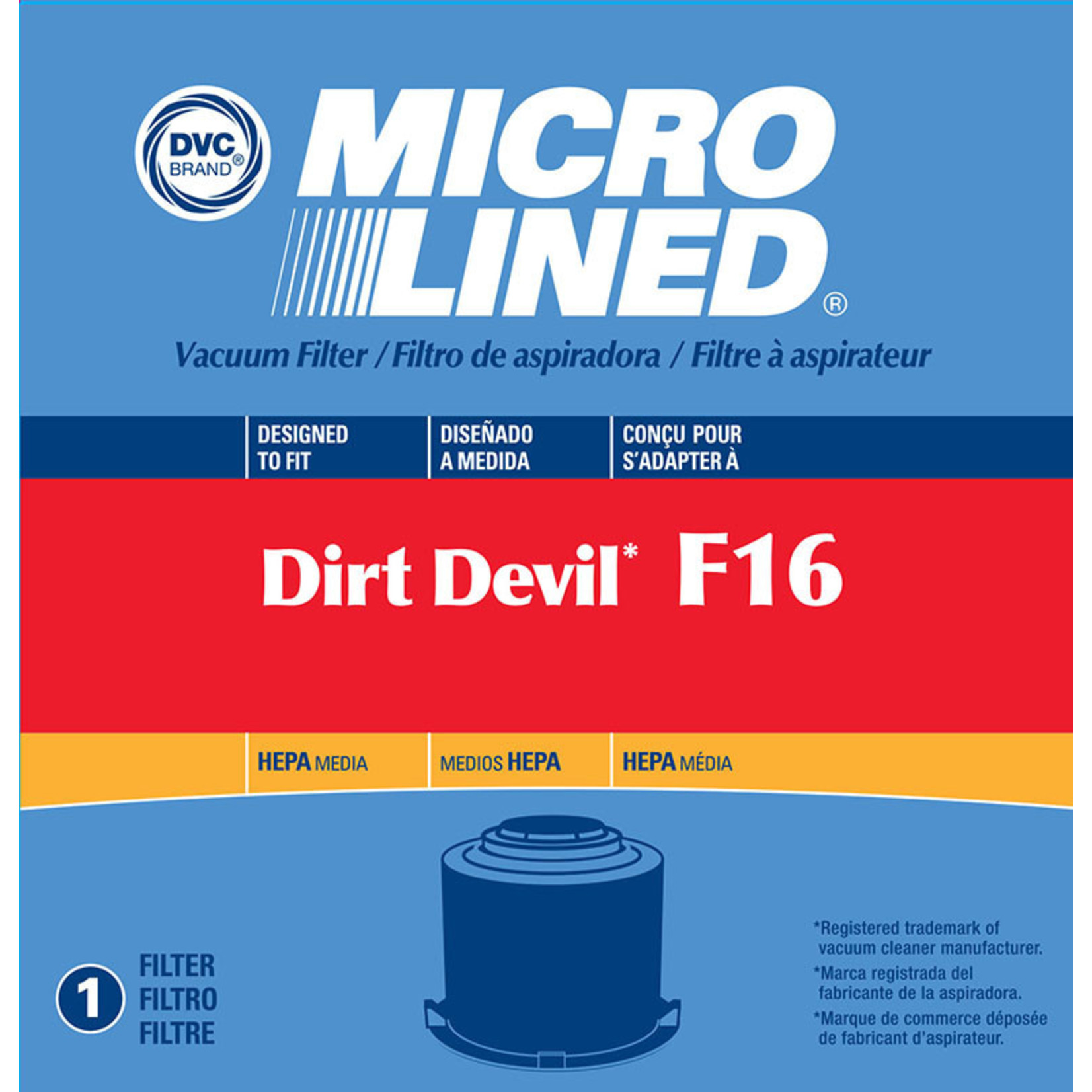 DVC Dirt Devil F16 HEPA Filter