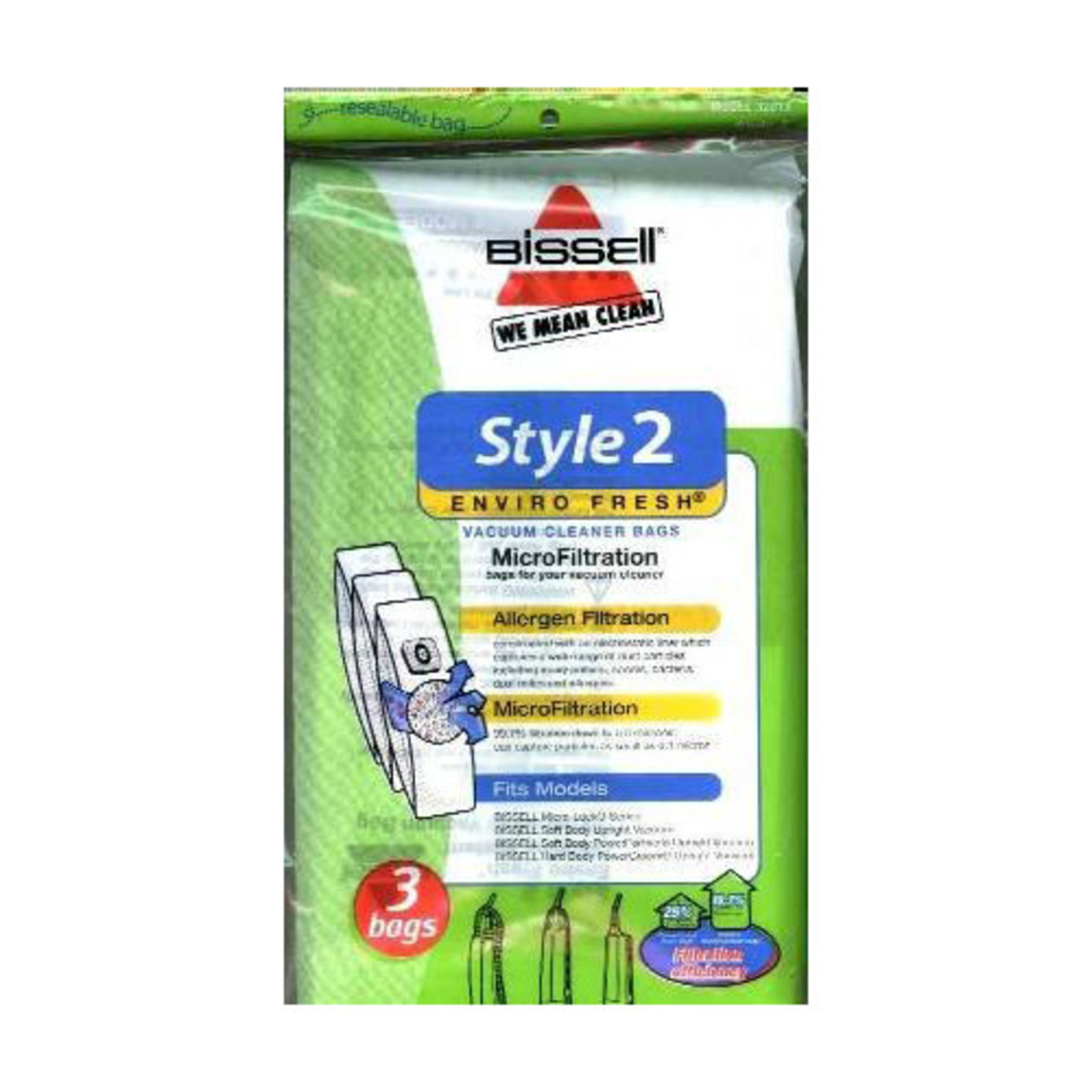 """Bissell Bissell Style """"2"""" Envirofresh Bag (3pk) **NO LONGER AVAILABLE**"""