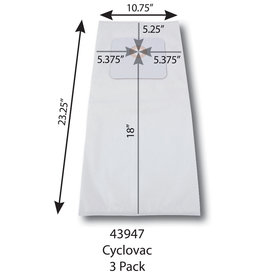 Centec Cen-Tec & CycloVac Central Vacuum Micro-Filter Vacuum Bags - 3pk