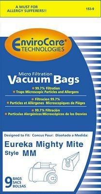 "EnviroCare Envirocare Sanitaire/Eureka Style ""MM"" Bag - 9pk"