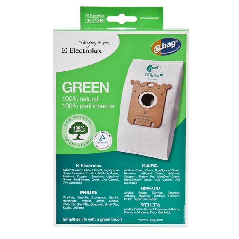 Electrolux Electrolux Green Unbleached S-Bag Fits - 3pk