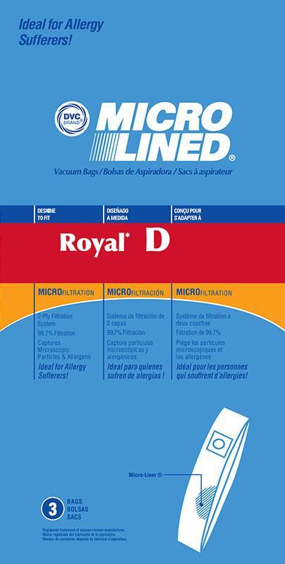 """DVC DVC Dirt Devil & Royal Style """"D"""" Bags (3pk)"""
