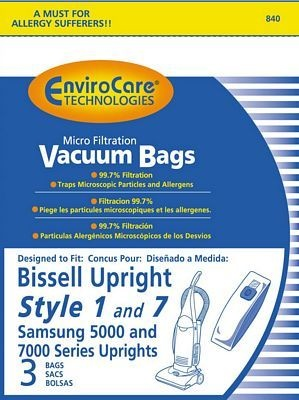 "EnviroCare Envirocare Bissell Style ""7 & 1"" Bag (3pk)"