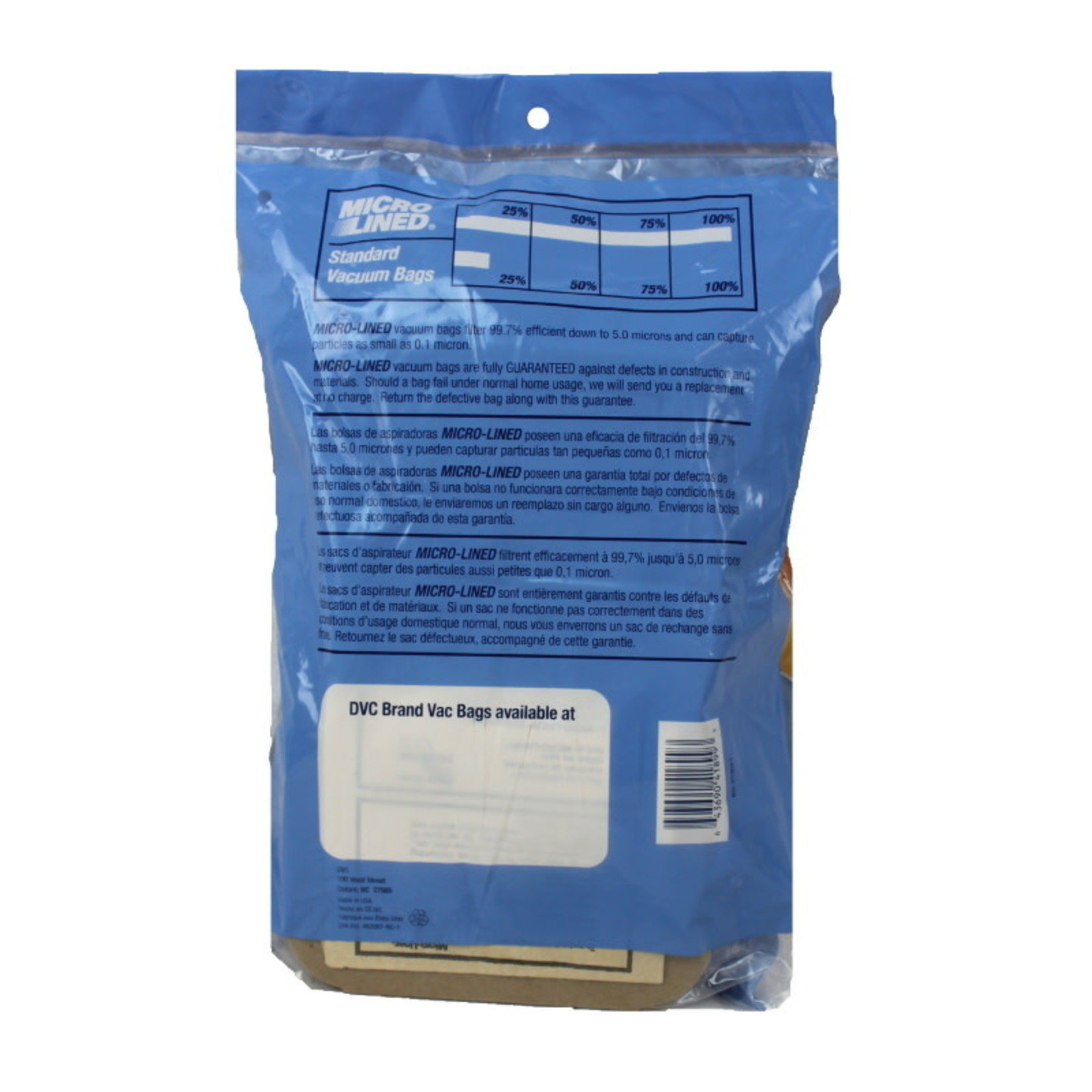 """DVC DVC Electrolux Style """"C"""" Cannister Bags - 24pk"""