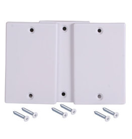 Swiss Boy Central Vacuum Inlet Valve Cover Plate - White, Box of 45