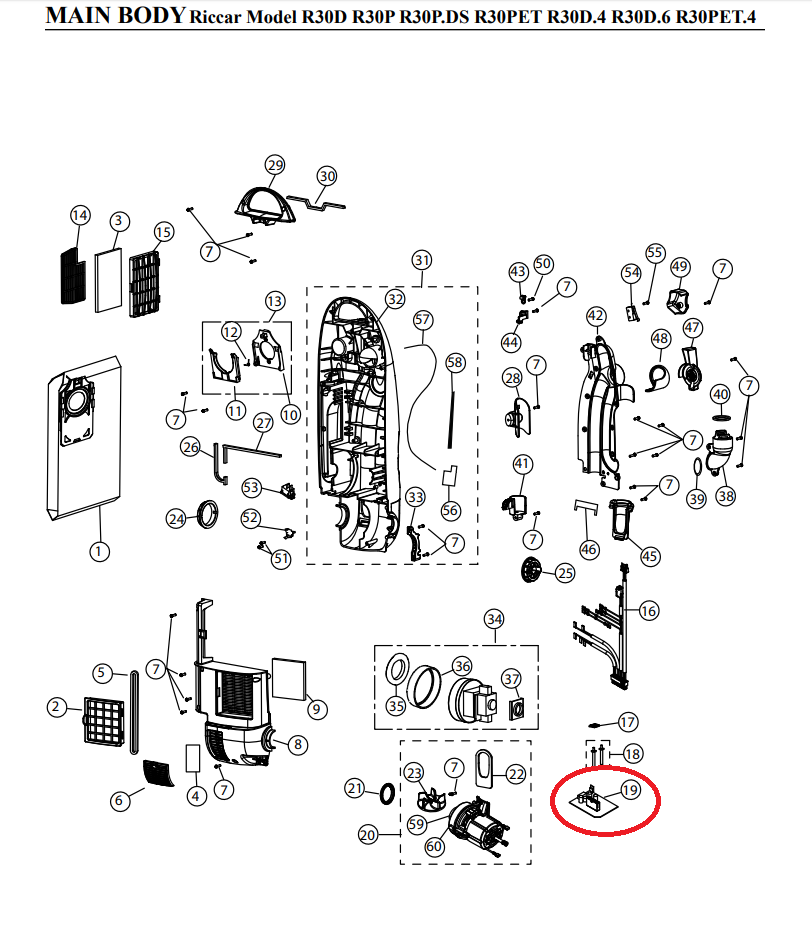Riccar Riccar Brilliance R30 & S30 PCB Circuit Board