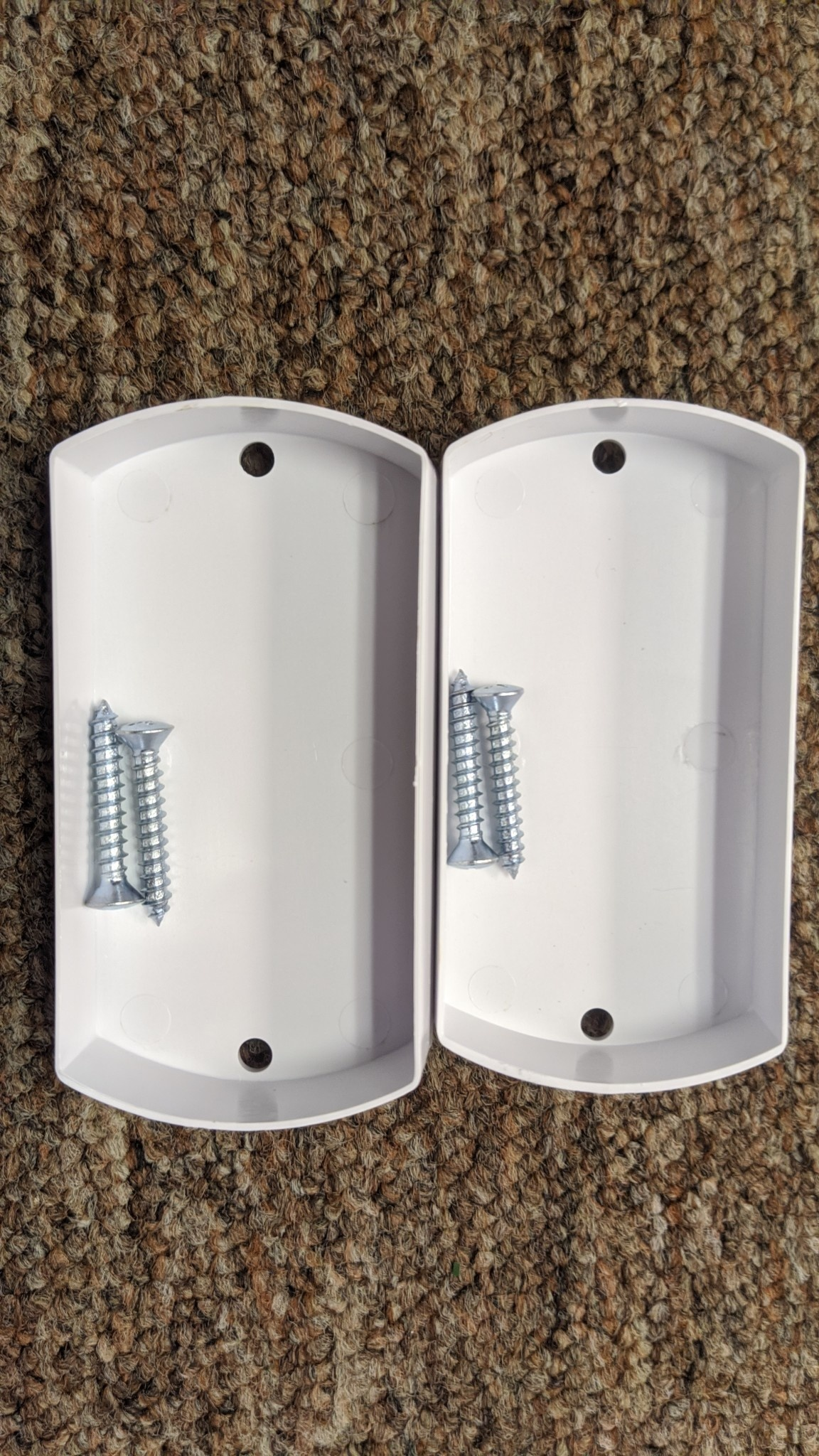 Central Vacuum Plaster Guard for Metal Stud Bracket 2pk w/screws