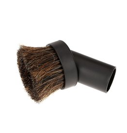 Swiss Boy Vacuum Central Vacuum Round Horse Hair Dusting Brush - Black