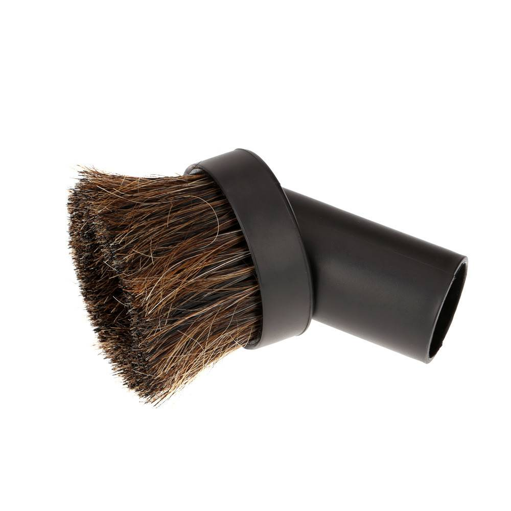 Swiss Boy CVS Round Horse Hair Dusting Brush - Black