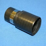"""Central Vacuum 1-1/4"""" Low Volt Wall End w/Ring - Black"""