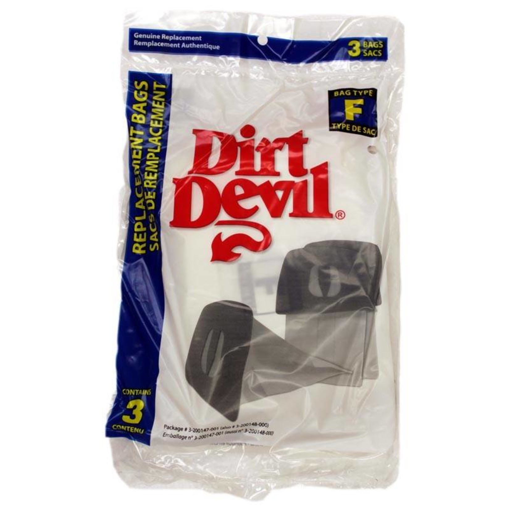 "TTI Dirt Devil Style ""F"" Bag (3pk)"