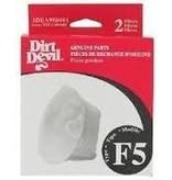 """TTI Dirt Devil Style """"F5"""" Filter (2pk)"""