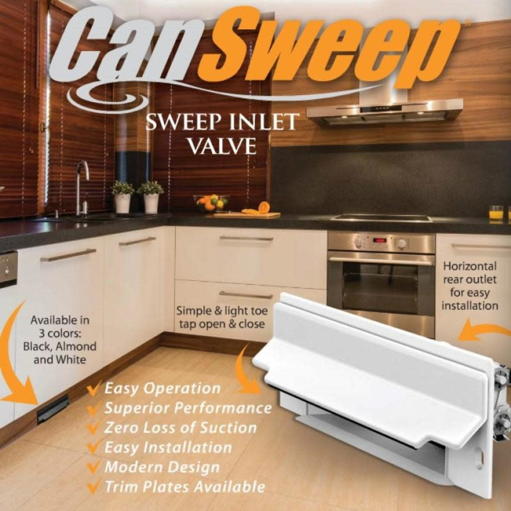 Canplas Cansweep Automatic Dustpan - Almond