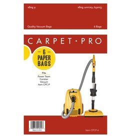 Carpet Pro Carpet Pro CP-1406 Paper Bag For CPCC1/FBCC1 - 6 Pk