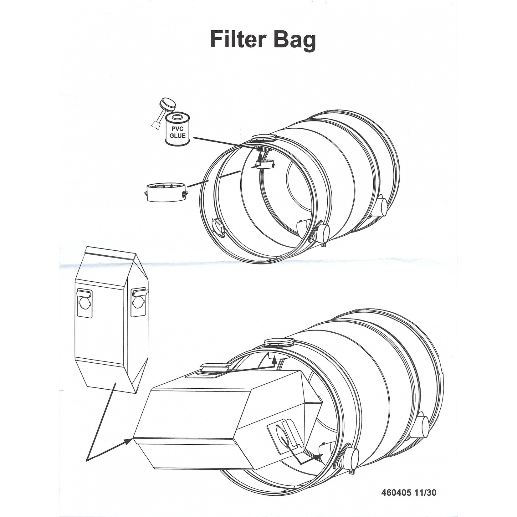 BEAM Beam Central Vacuum 2-Hole Cloth Bag Adapter for 225/275/295/325/375