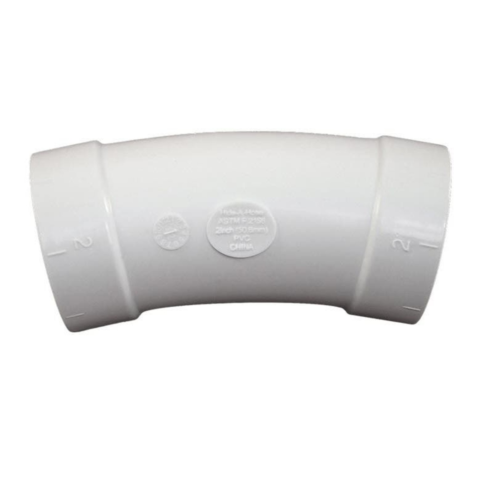 Hide A Hose Central Vacuum Large 22.5 Elbow Fitting for Hose Retraction