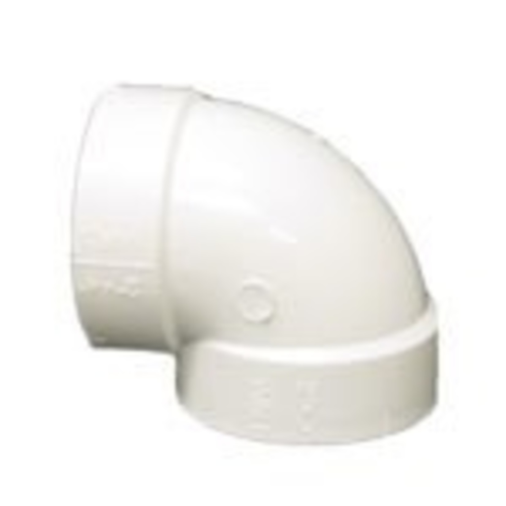 Plastiflex Central Vacuum Sharp 90 Elbow Fitting - Single