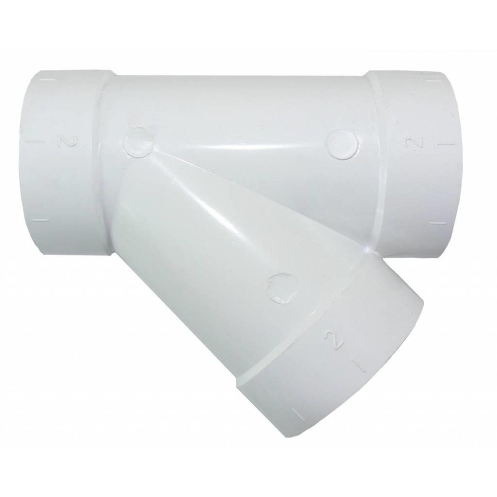 Plastiflex CVS 45 Y Branch Fitting - Single