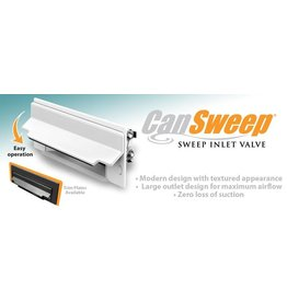 Canplas Central Vacuum CanSweep w/ Trim Plate - White