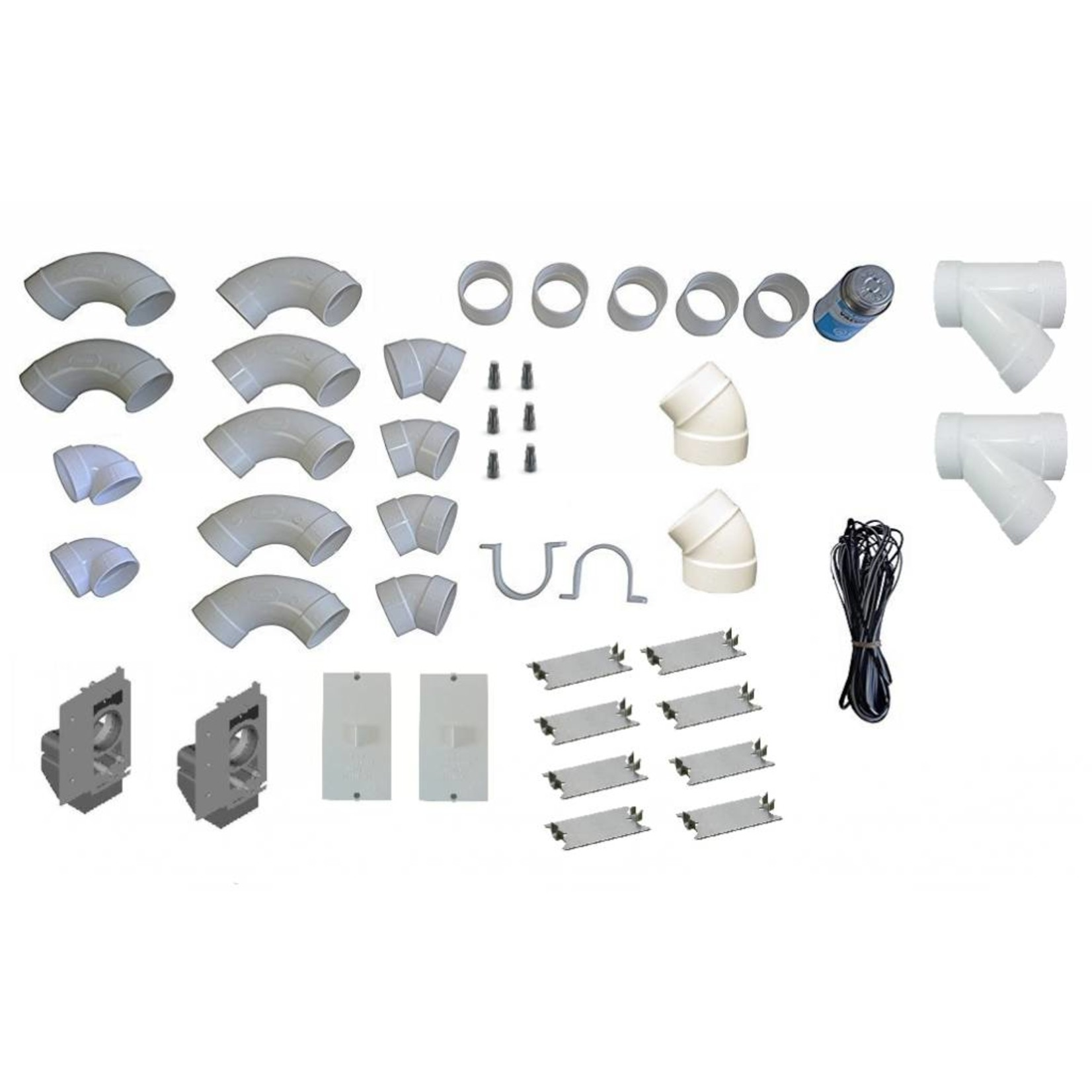 CVS Traditional Central Vac Rough-In Kit - 2 Inlets