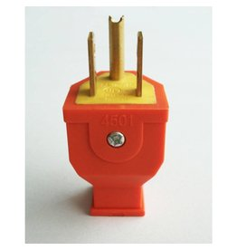 3 Wire Male Plug - Orange