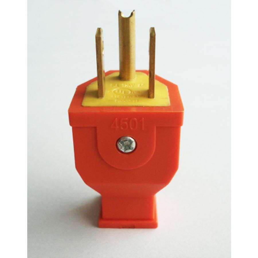 Generic 3 Wire Male Plug - Orange