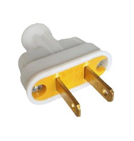 Swiss Boy 2 Wire Male Plug - White