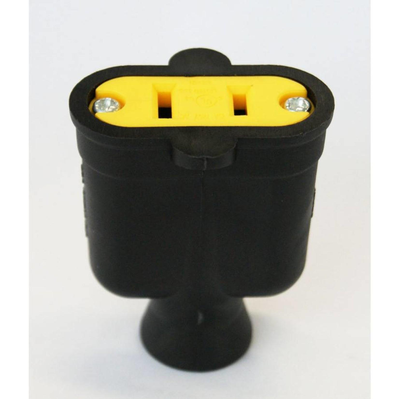 2 Wire Female Plug - Black