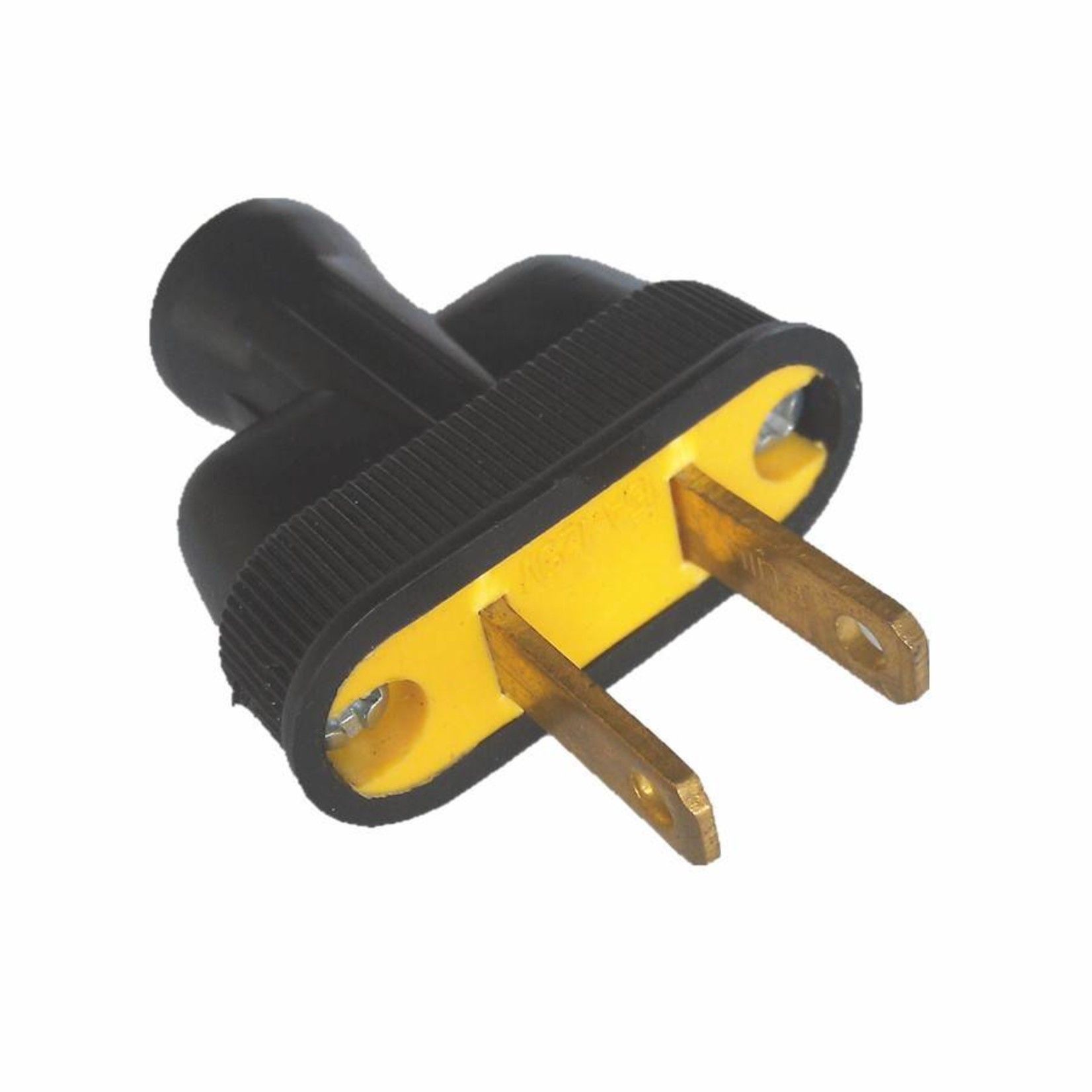 Swiss Boy 2 Wire Male Plug - Black