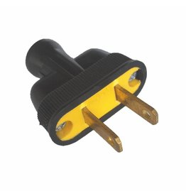 Swiss Boy 2 Wire Male Plug - Black