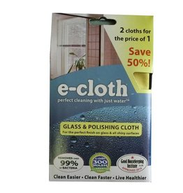 E-Cloth E-Cloth Glass and Polishing Cloth - 2 for 1 Pack