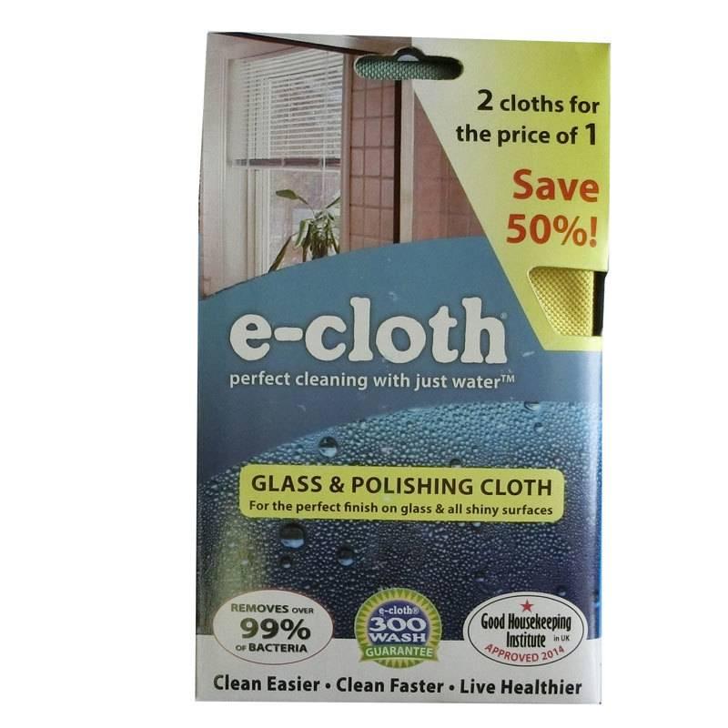 E-Cloth E-Cloth Glass and Polishing Cloth - 2 for 1 Pack