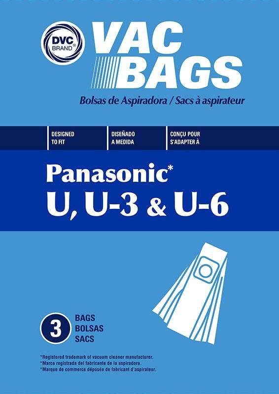 DVC DVC Panasonic Style U, U-3, &U-6 Bags (12PK)