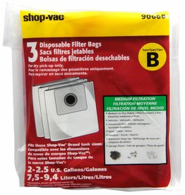"Shop Vac Type ""B"" Bags (3pk)"