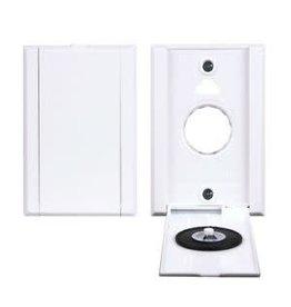 Hayden Vacu-Valve White Full Door Inlet Valve - Dual Volt Wall Plate