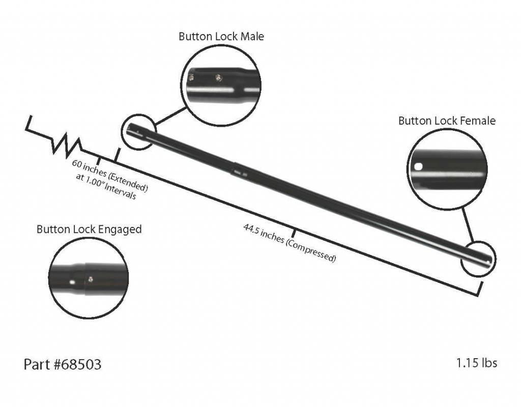 Centec CenTec Locking Telescopic Extension Wand - Black