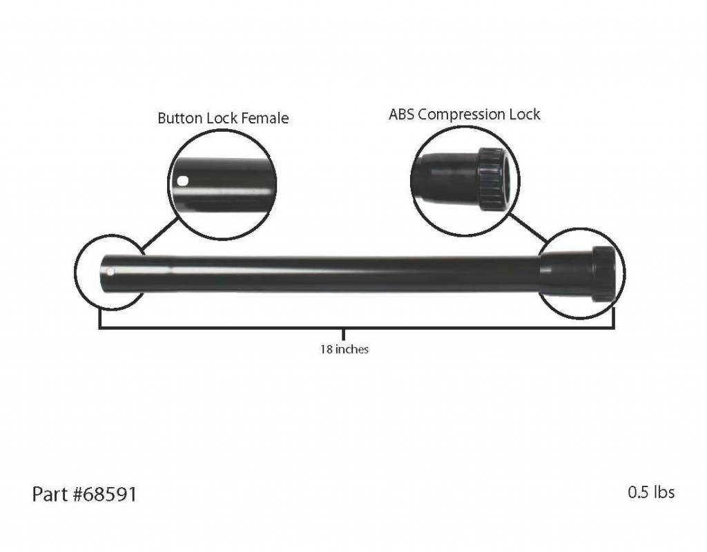 Centec CenTec Straight Extension ABS Locking Wand