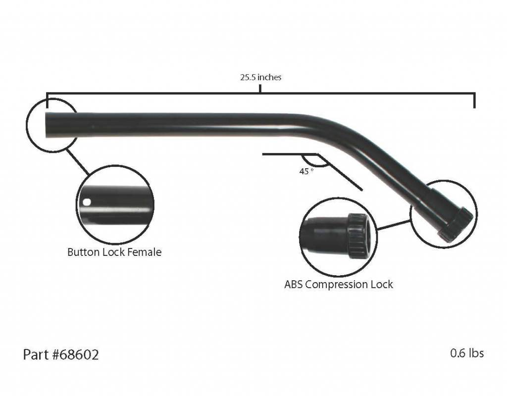 Centec Cen-Tec 45° Extension ABS Locking Wand