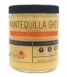 Must Love Food Mantequilla Ghee Vainilla y Naranja 230g.