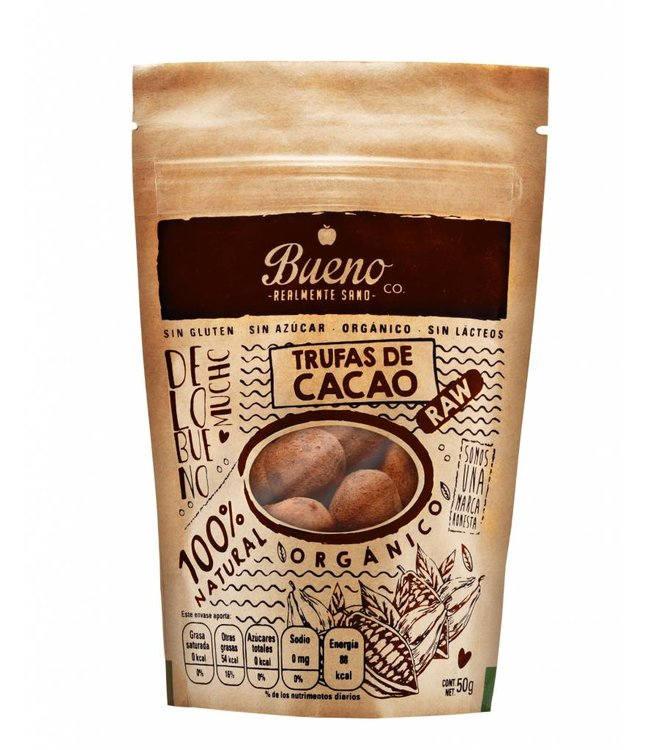 Bueno Co. Trufas de Cacao  50g