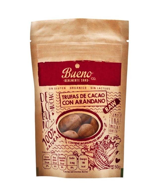 Bueno Co. Trufas de Cacao con Arándano  50g