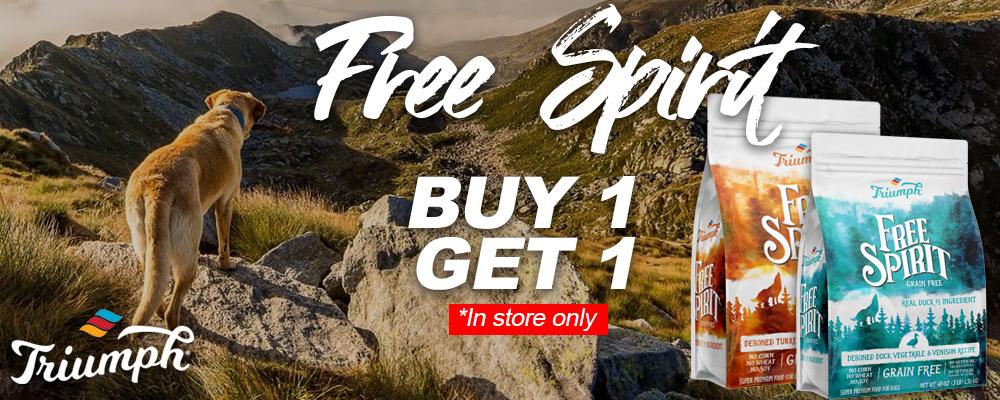 triumph free spirit buy 1 get 1 store sale