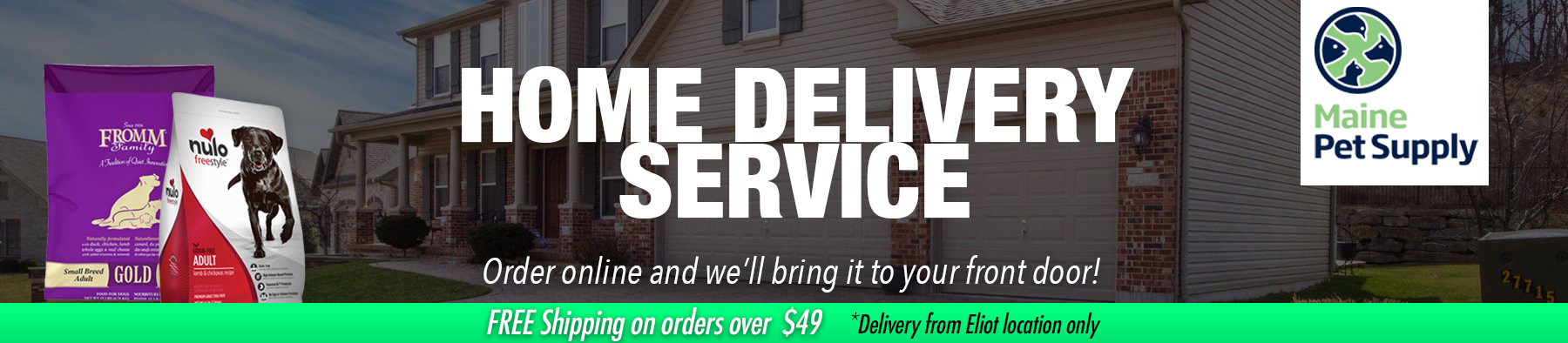Home delivery banner - free delivery over $49